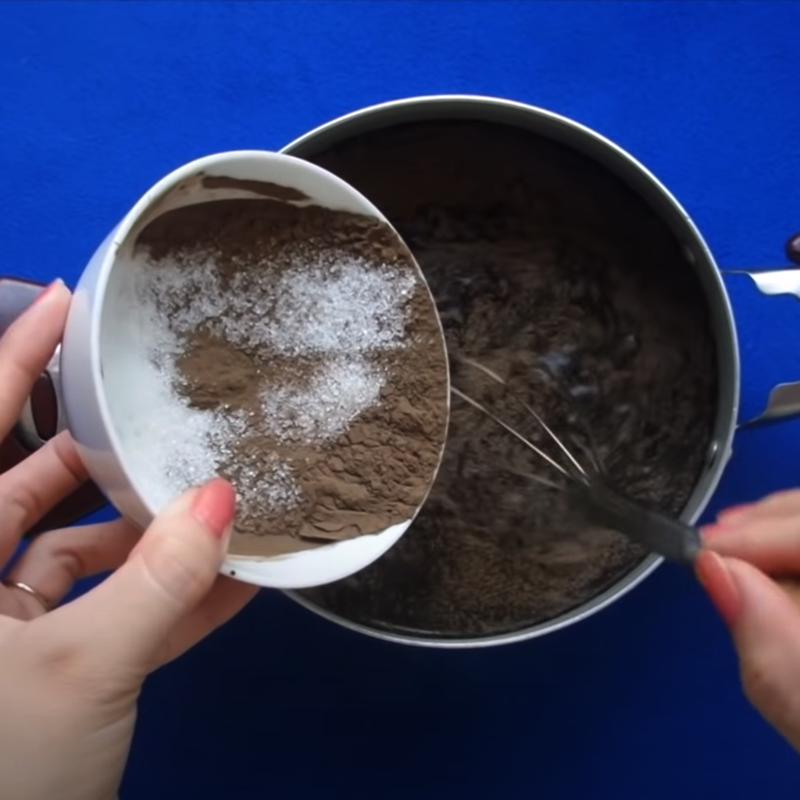 Bước 1 Pha bột Sương sáo bằng bột