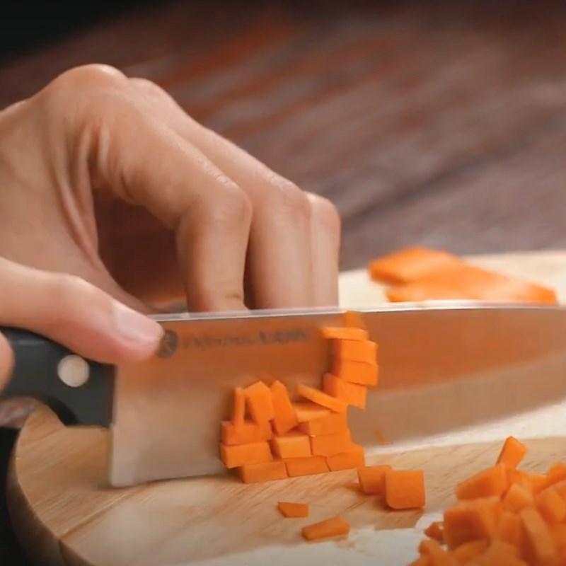 Bước 1 Sơ chế rau củ Cháo thịt bằm tía tô