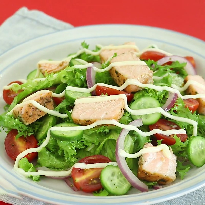Bước 6 Thành phẩm Salad  cá hồi dầu giấm