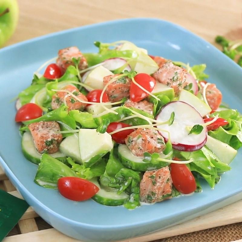 Bước 6 Thành phẩm Salad cá hồi sốt sữa chua