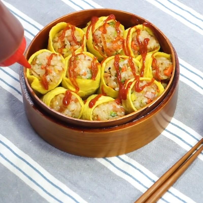 Bước 6 Thành phẩm Trứng cuộn cơm rau củ