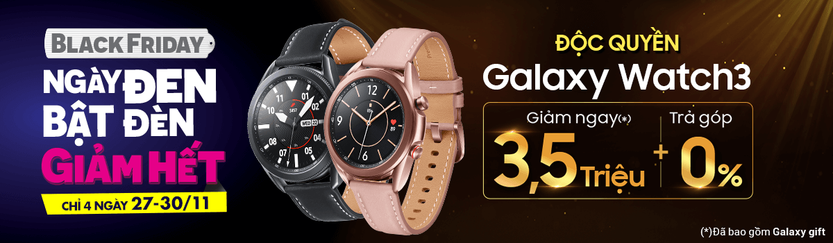 Galaxy Watch3[break]Giảm Ngay 3,5 Triệu