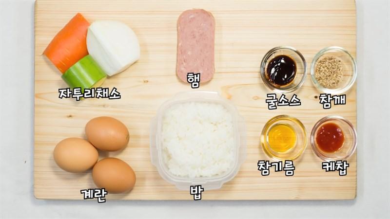 Nguyên liệu món ăn 3 món trứng cuộn cơm
