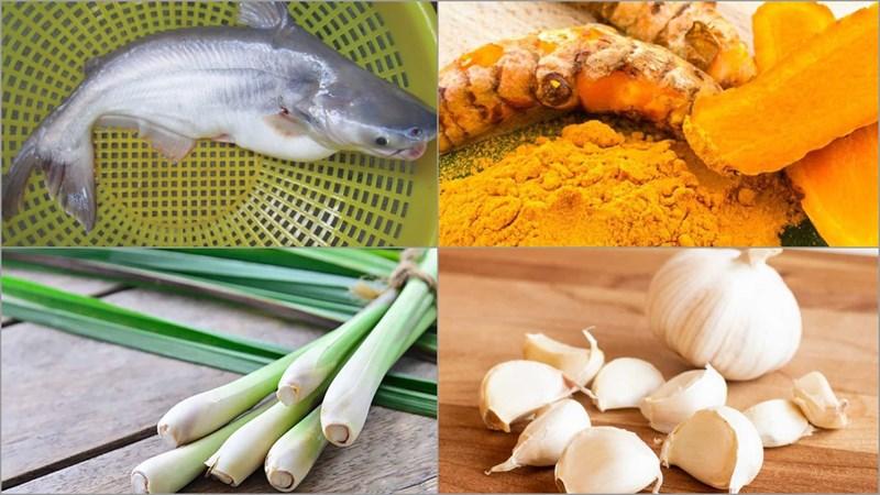 Nguyên liệu món ăn 3 cách làm cá lăng nướng muối ớt, sả nghệ và riềng mẻ