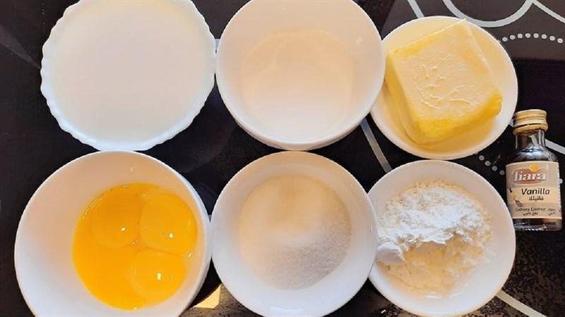 Nguyên liệu món ăn bánh carpathian (karpatka) chuẩn vị ba lan