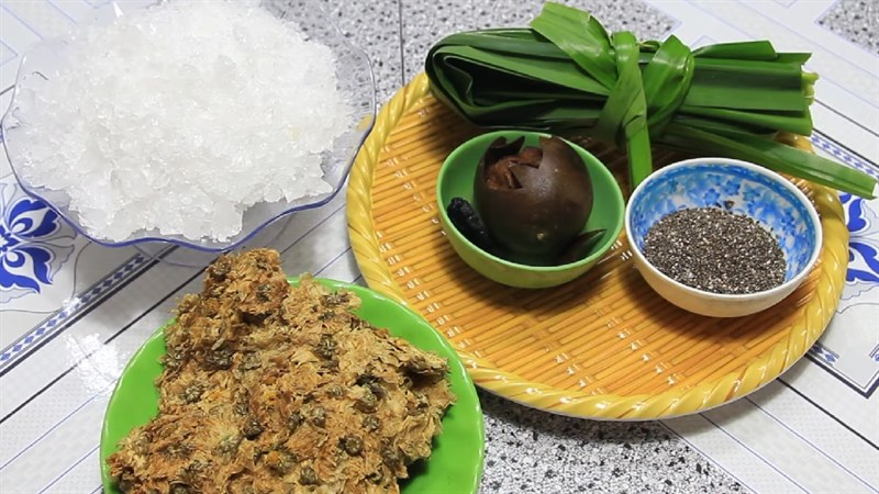 Nguyên liệu món ăn sâm bông cúc