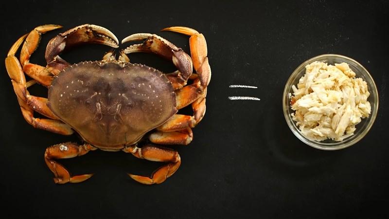 cách lấy thịt cua biển