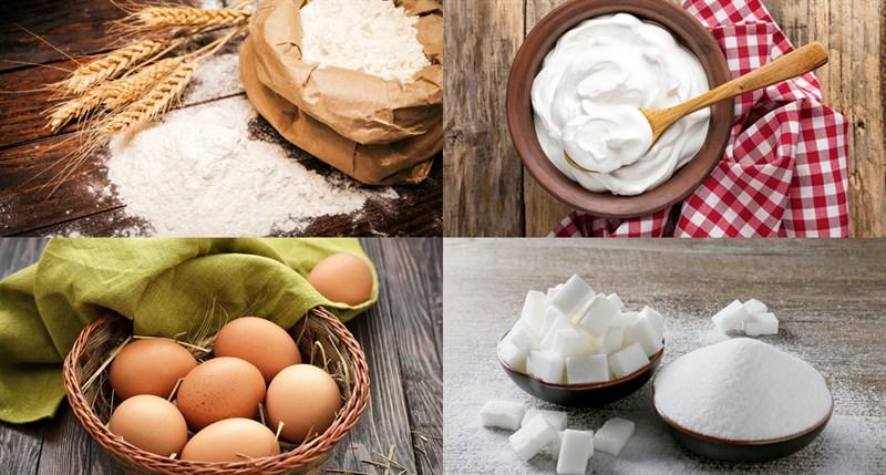 Nguyên liệu món ăn bánh pudding custard