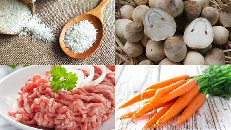 Nguyên liệu món ăn 3 món cháo thịt băm
