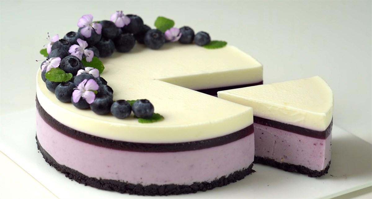 Bánh cheesecake blueberry - bánh phô mai việt quất