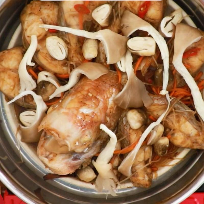 Bước 5 Hấp cá Cá diêu hồng hấp miến