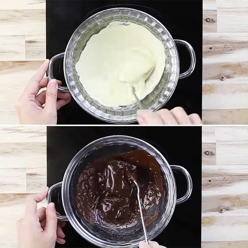Bước 2 Nấu chảy socola Bánh cake pop