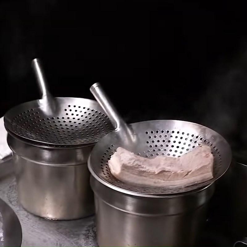 Bước 3 Sơ chế thịt ba chỉ Thịt khâu nhục Quảng Đông