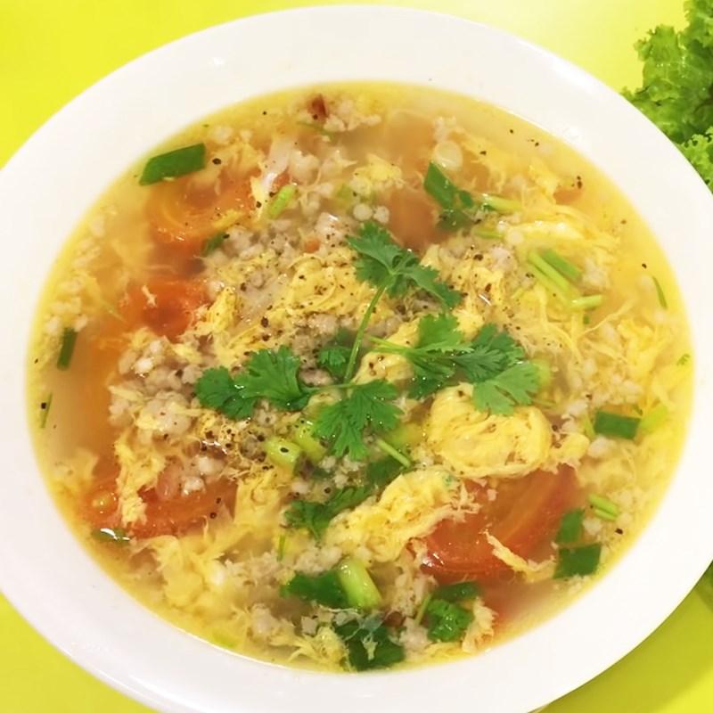 Bước 5 Thành phẩm Canh cà chua trứng thịt bằm