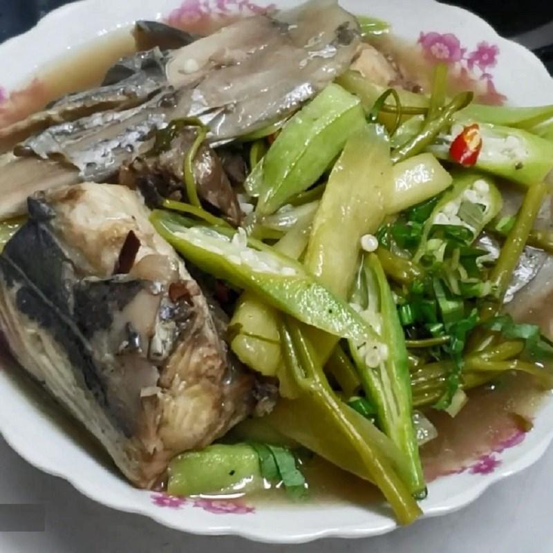Bước 4 Thành phẩm Canh chua đầu cá thu rau muống