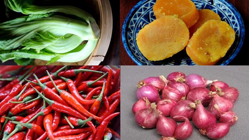 Nguyên liệu món ăn dưa cải muối