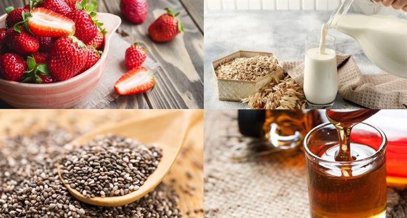 Nguyên liệu món ăn 5 cách làm pudding hạt chia