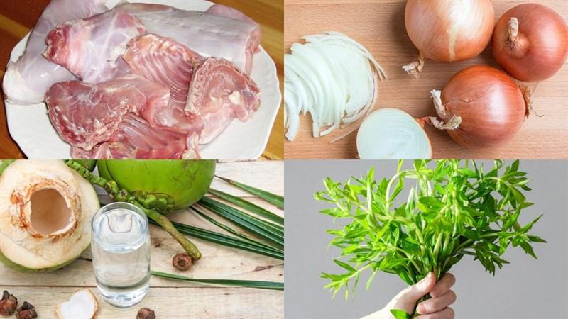 Nguyên liệu món ăn thịt thỏ xào lăn