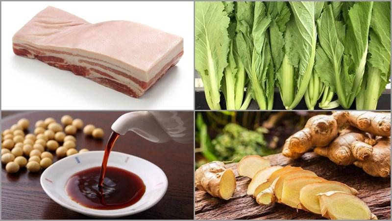 Nguyên liệu món ăn cách làm thịt khâu nhục quảng đông