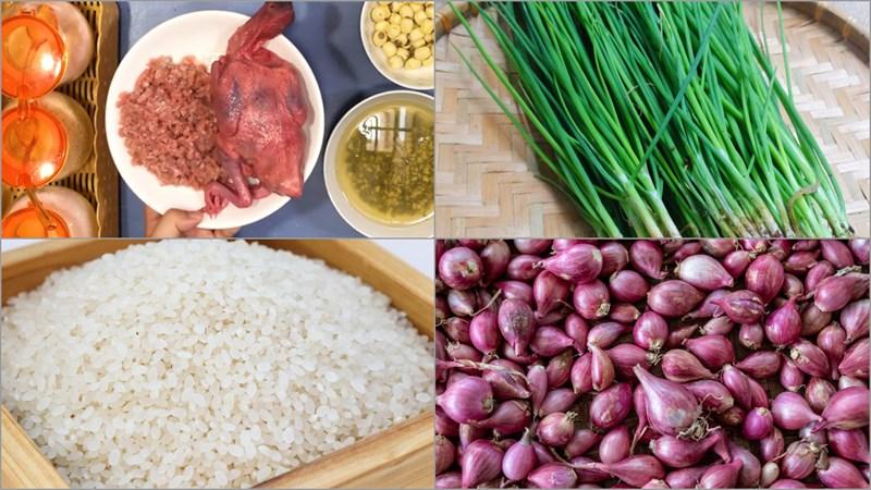 Nguyên liệu món ăn cháo chim bồ câu