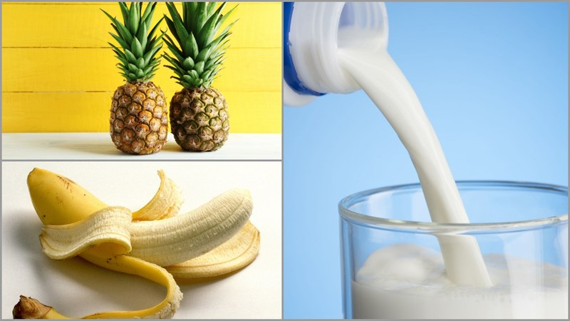 Nguyên liệu món ăn 6 cách làm sữa lắc (milkshake) trái cây không dùng kem