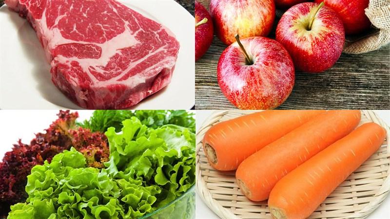 Nguyên liệu món ăn 2 cách làm gỏi cuốn thịt bò nướng và xào sả
