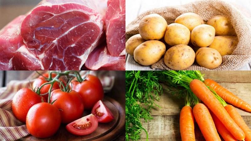 Nguyên liệu món ăn lagu bò
