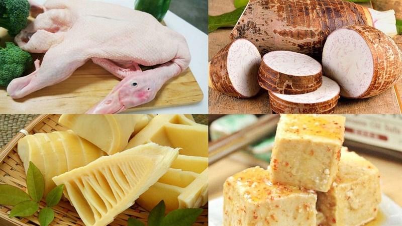 Nguyên liệu món ăn vịt nấu chao
