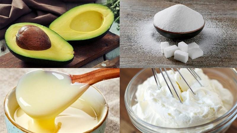 Nguyên liệu món ăn kem bơ