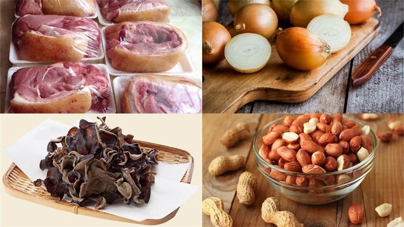 Nguyên liệu món ăn cách làm heo rừng xào lăn