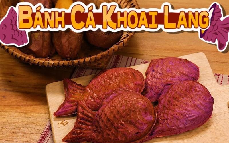 Bánh cá khoai lang tím