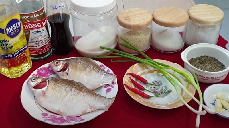 Nguyên liệu món ăn 3 cách làm cá mè kho