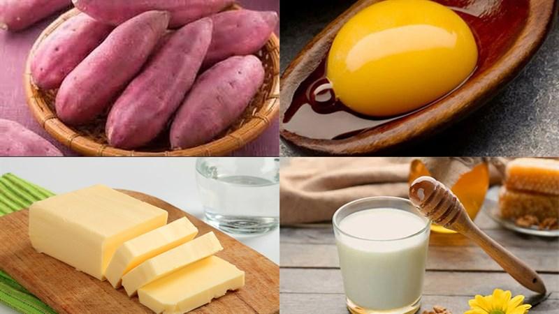 Nguyên liệu món ăn cách làm bánh khoai lang nướng