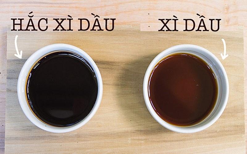 Cách phân biệt hắc xì dầu và xì dầu (nước tương)