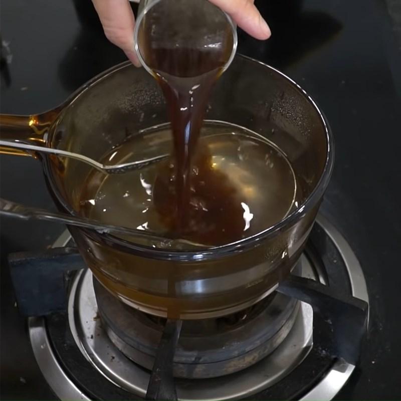 Bước 2 Pha rau câu cà phê Rau câu sợi giòn khô
