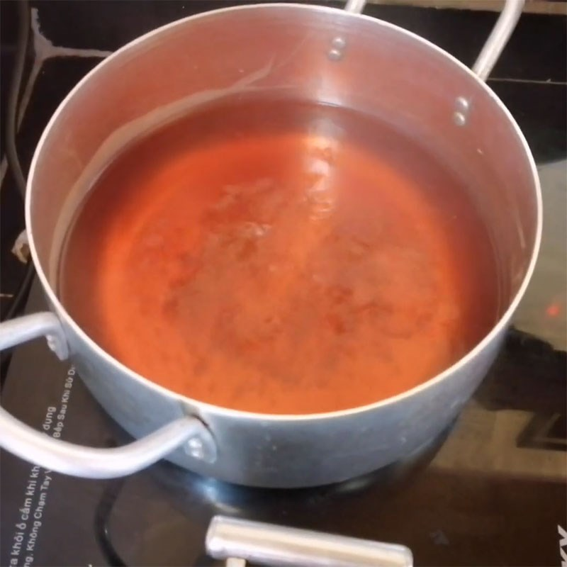 Bước 2 Nấu nước ngâm Trám ngâm mắm