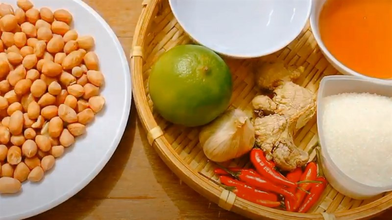 Nguyên liệu món ăn mắm đậu phộng