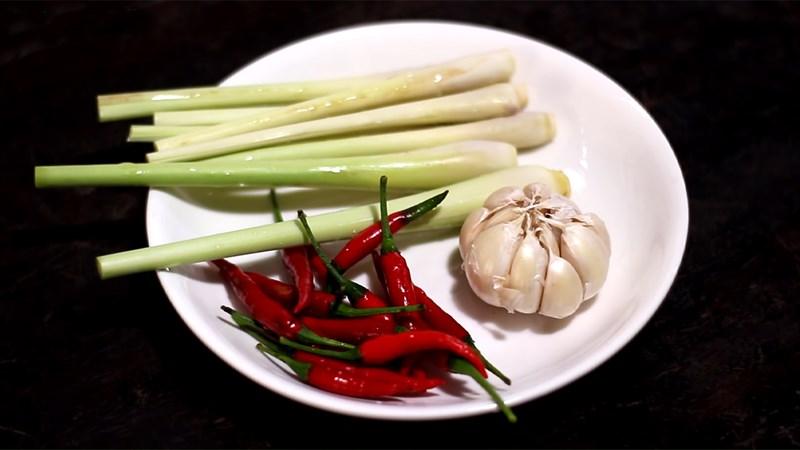 Nguyên liệu món ăn muối sả ớt