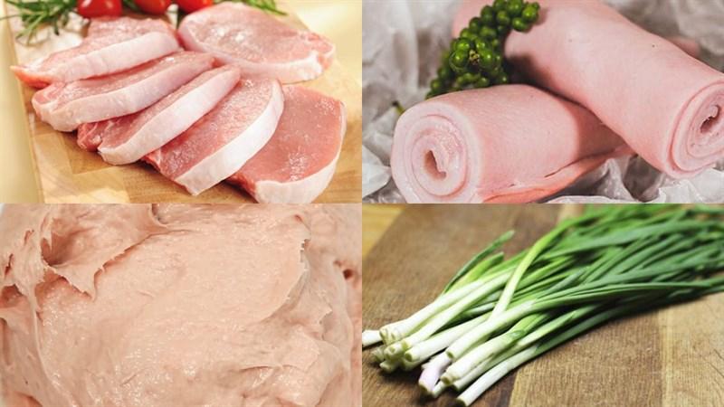 Nguyên liệu món ăn cách làm giò dăm bông thịt heo