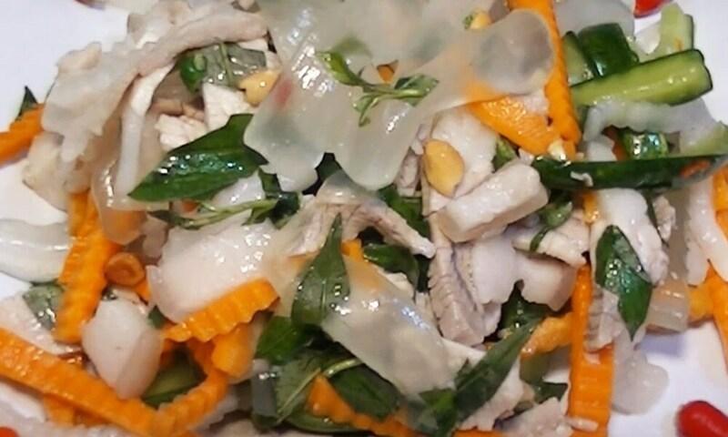 Salad thịt nha đam