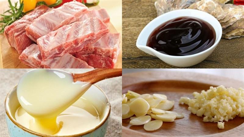 Nguyên liệu món ăn sườn nướng dầu hào