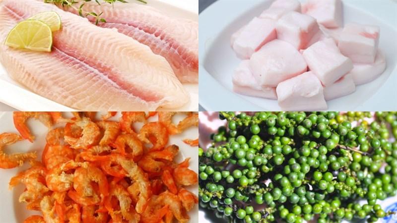 Nguyên liệu món ăn cá lóc kho quẹt