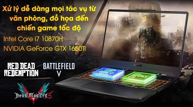 Laptop Asus TUF Gaming FX506LI i7 (HN096T) - CPU