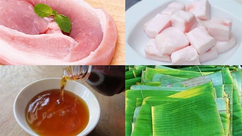 Nguyên liệu món ăn chả lụa (giò lụa) thịt heo