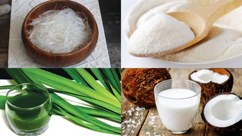 Nguyên liệu món ăn rau câu sợi giòn khô