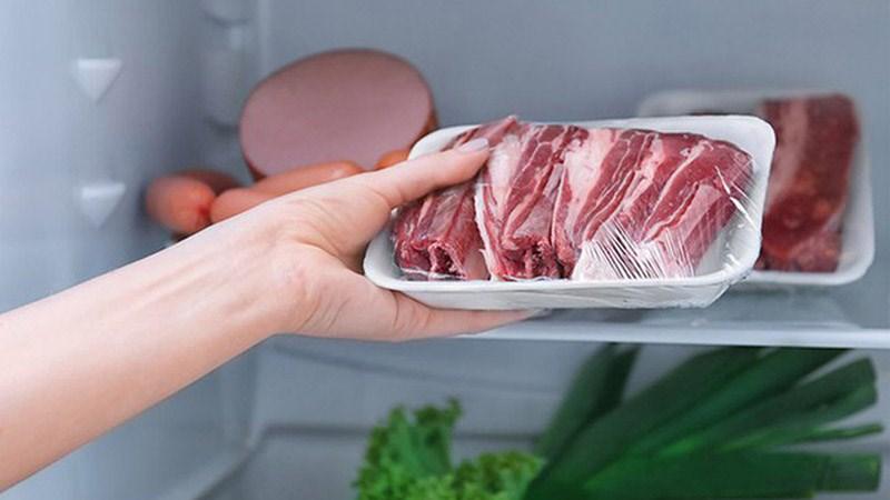 bảo quản thịt ba chỉ trong tủ lạnh