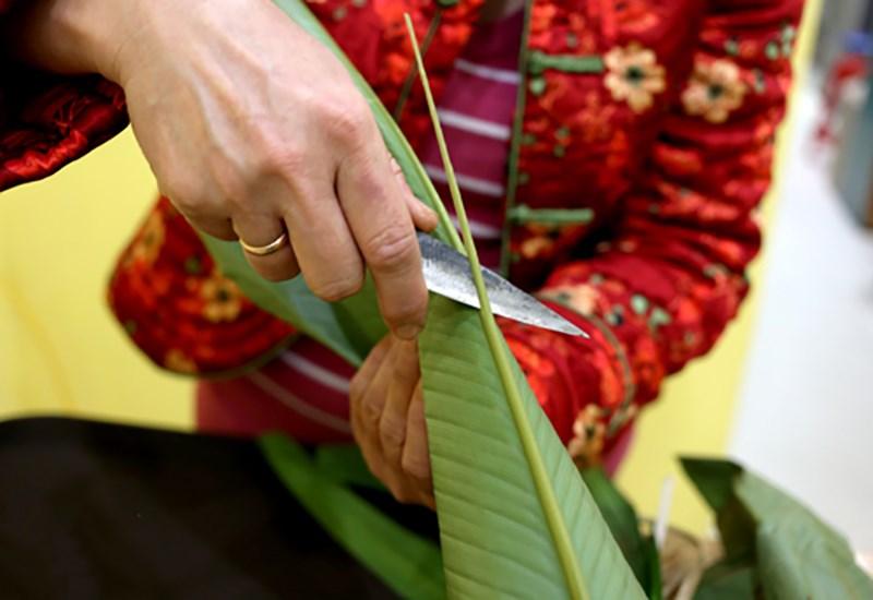cách 2 - cắt sống lá