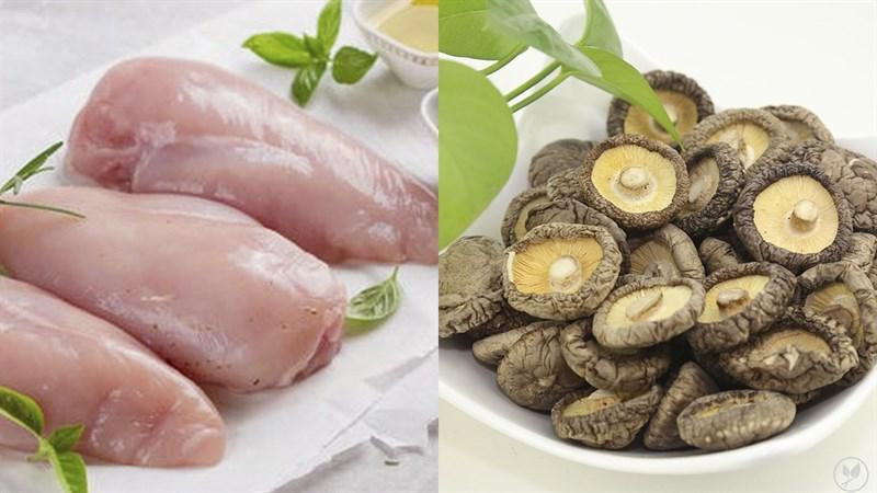 Nguyên liệu món ăn 3 cách làm ức gà xào nấm