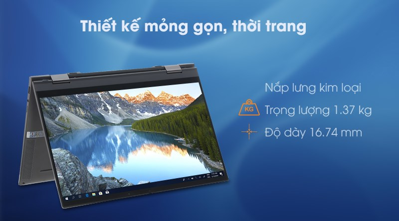 Laptop Dell Inspiron 7306 i5 (N3I5202W) - Thiết kế