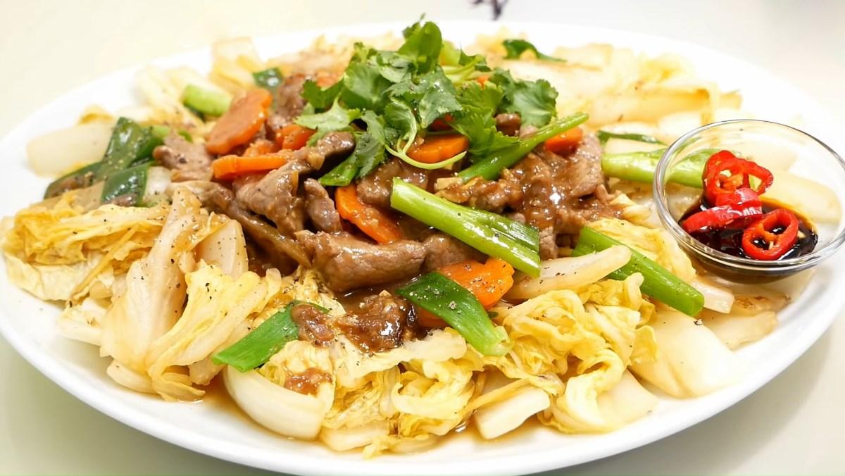 Cách làm cải thảo xào thịt bò thơm ngon, bổ dưỡng cho bữa cơm gia đình